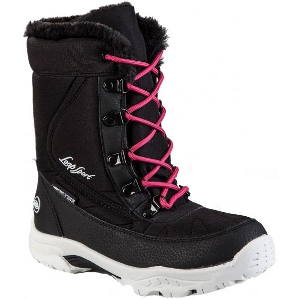 Loap ICE KID ružová 34 - Detská zimná obuv