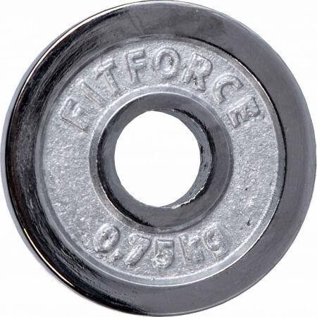 Súlyzótárcsa - Fitforce SÚLYZÓTÁRCSA 0,75 KG CHROM 30MM