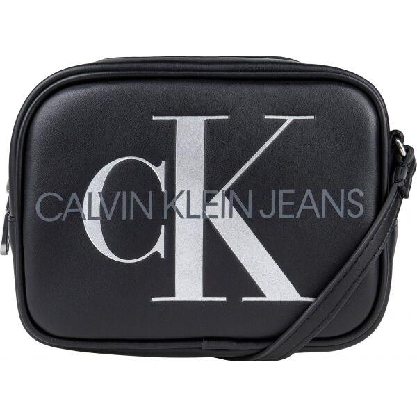 Calvin Klein SCULPTED CAMERA BAG SILVER - Dámska taška cez rameno