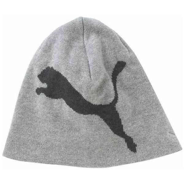 Puma BIG CAT BEANIE JNR šedá UNI - Juniorská zimní čepice