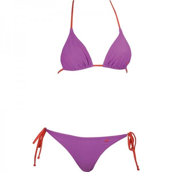 Speedo 2PIECE TAPER TRIANGLE MEDIUM LEG różowy 38 - Strój kąpielowy dwuczęściowy damski