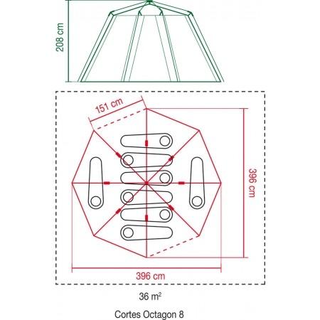 Семейна палатка - Coleman CORTES OCTAGON 8 - 7