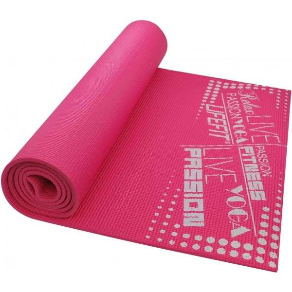 SPORT TEAM LIFEFIT SLIMFIT ružová NS - Gymnastická podložka