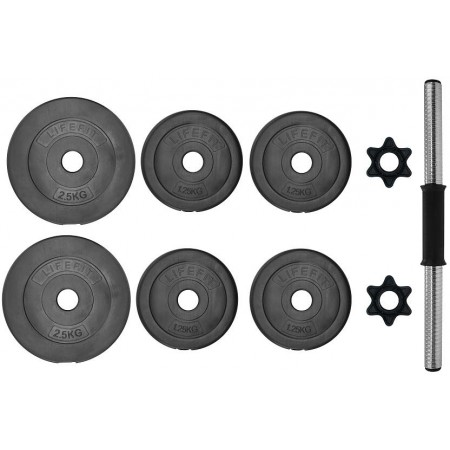 Едноръка гиричка - SPORT TEAM VINYL SET 10kg - 2