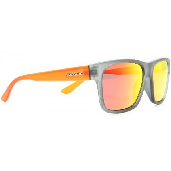 Blizzard Rubber black trans Polarized šedá  - Sluneční brýle