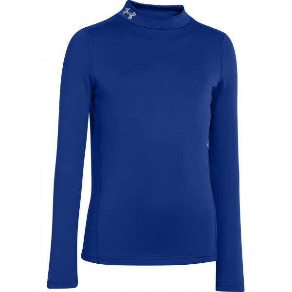 Under Armour CG EVO FITTED LS MOCK modrá S - Chlapecké triko