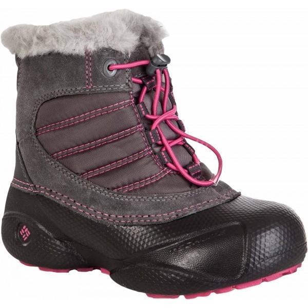 E-shop Columbia YOUTH ROPE TOW KIDS růžová 11 - Dětská zimní obuv