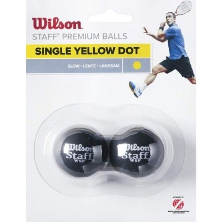 Wilson STAFF SQUASH 2 BALL YEL DOT - Piłka do squasha