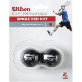 Wilson STAFF SQUASH 2 BALL RED DOT