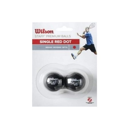 Wilson STAFF SQUASH 2 BALL RED DOT - Squash Balls