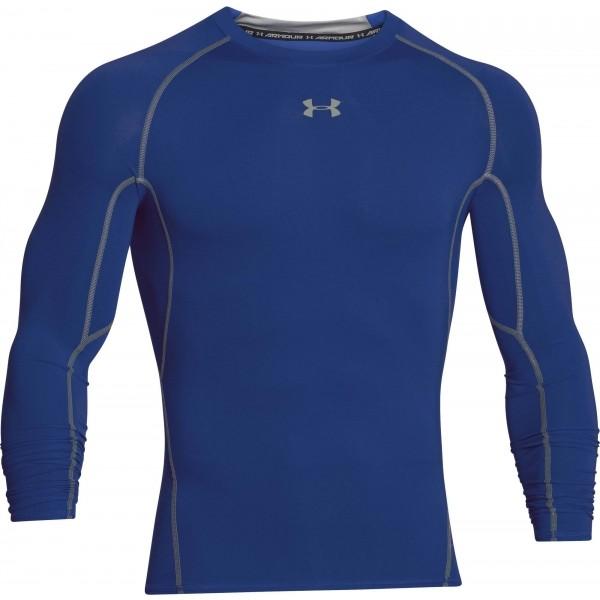 Under Armour HEAT ARM COMPR LONG niebieski XL - Koszulka męska