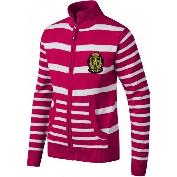 Lewro RONNY červená 152-158 - Dětský pletený svetr