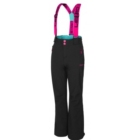 Dívčí lyžařské softshellové kalhoty - Lewro DEX 140-170 - 1
