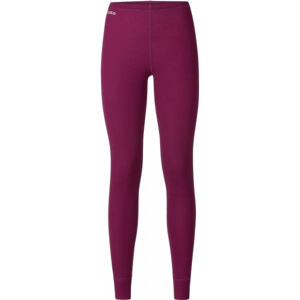 Odlo SUW WOMEN'S BOTTOM ORIGINALS WARM XMAS vínová L - Dámské funkční kalhoty