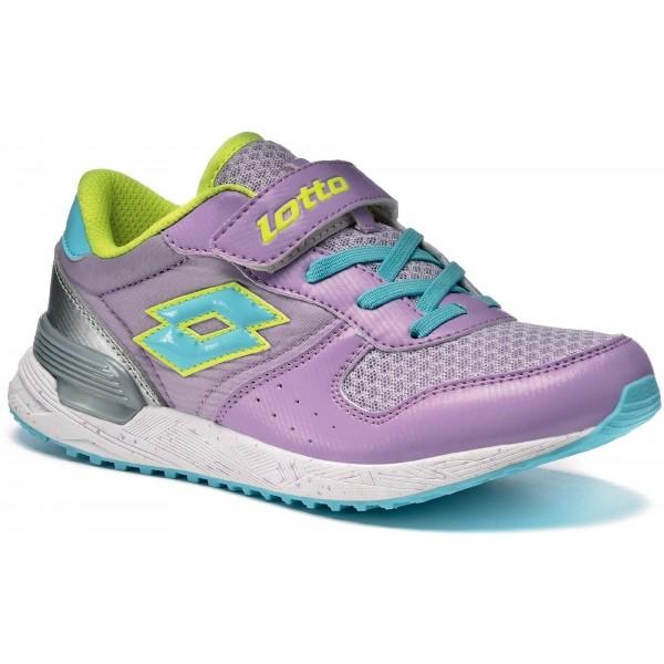 Lotto RECORD VII NY CL SL fialová 32 - Dětská volnočasová obuv