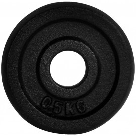 Fitforce WEIGHT DISC PLATE 0.5KG BLACK METAL 30MM - Weight Disc Plate