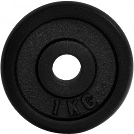 Fitforce WEIGHT DISC PLATE 1KG BLACK METAL 30MM