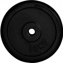 Fitforce WEIGHT DISC PLATE 10KG BLACK METAL 30MM - Weight Disc Plate