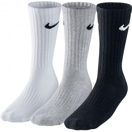 Nike 3PPK VALUE COTTON CREW - Skarpetki sportowe