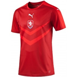 Puma CZECH REPUBLIC HOME REPLICA B2B SHIRT CHILI - Replika fotbalového dresu