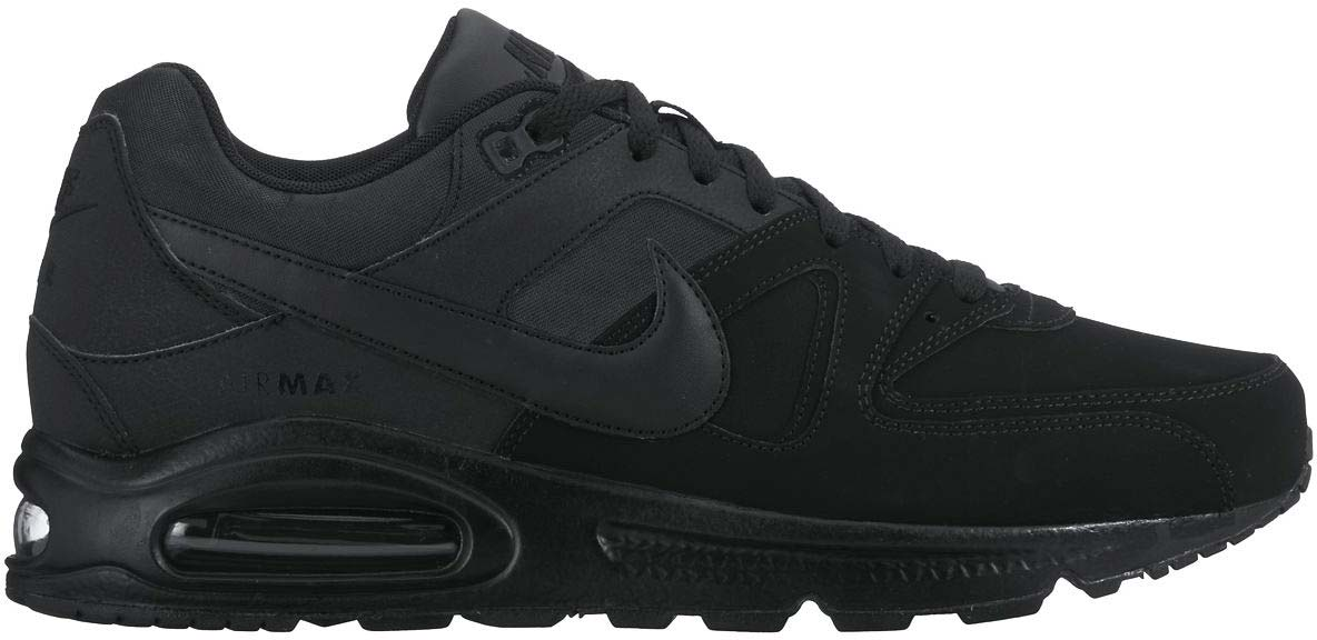 authentic nike air max command leather all black 7eb50 66798