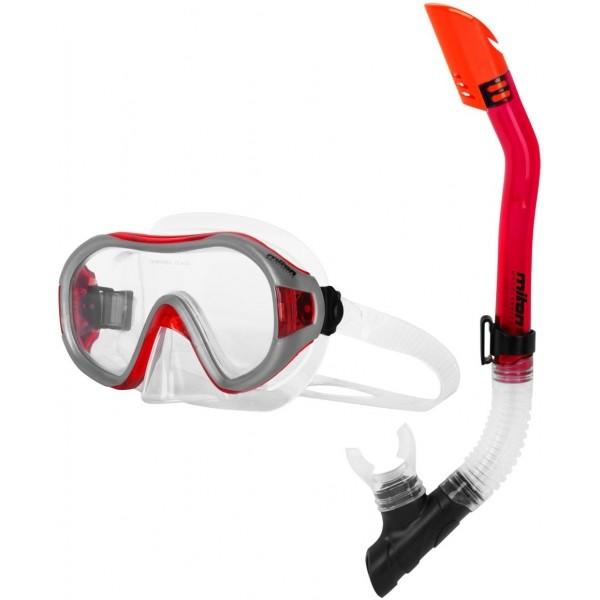 Miton DORIS LAGOON czerwony  - Zestaw do nurkowania