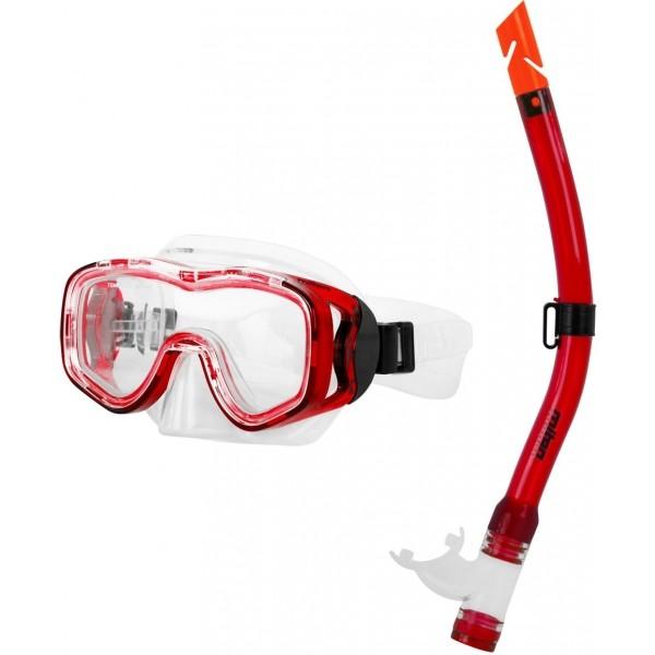 Miton PROTEUS RIVER czerwony  - Zestaw do nurkowania młodzieżowy