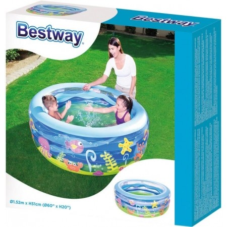 Надуваем басейн - Bestway SUMMER WAVE CRYSTAL POOL - 3