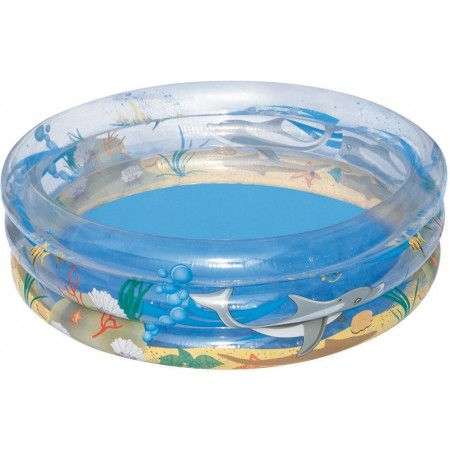 Надуваем басейн - Bestway TRANSPARENT SEA LIFE POOL - 1