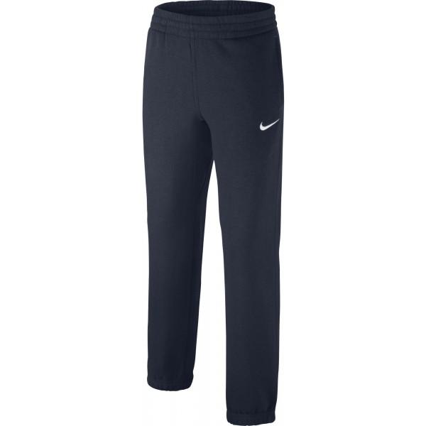 Nike CORE BF CUFF PANT YTH granatowy S - Spodnie chłopięce