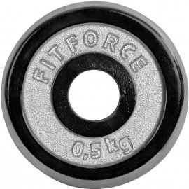 Fitforce WEIGHT DISC PLATE 0,5KG CHROME - Weight Disc Plate