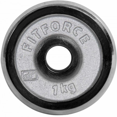 WEIGHT DISC PLATE 1KG CHROME - Weight Disc Plate - Fitforce WEIGHT DISC PLATE 1KG CHROME