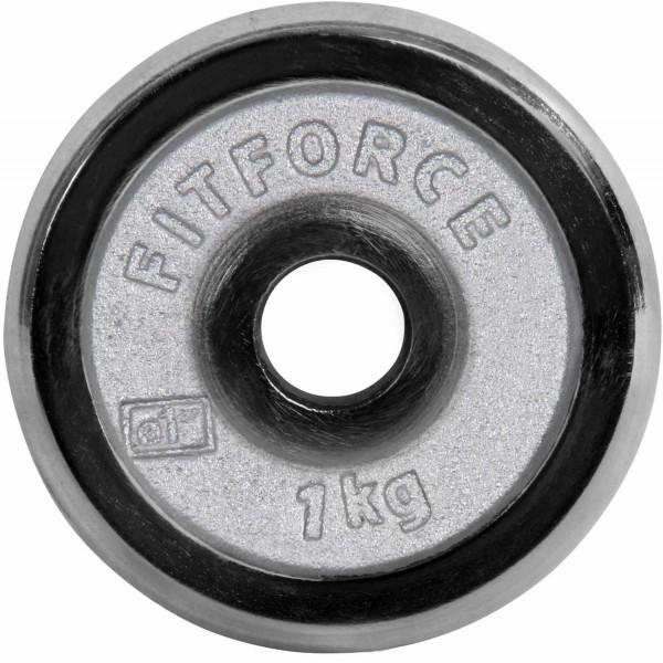 Fitforce NAKLADACÍ KOTÚČ 1KG CHROM - Nakladací kotúč