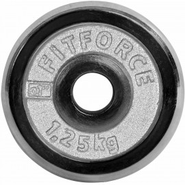 Fitforce WEIGHT DISC PLATE 1.25 KG CHROME - Weight disc plate