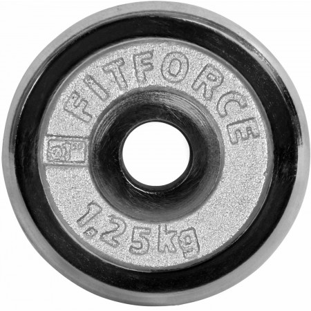 Weight disc plate - Fitforce WEIGHT DISC PLATE 1.25 KG CHROME