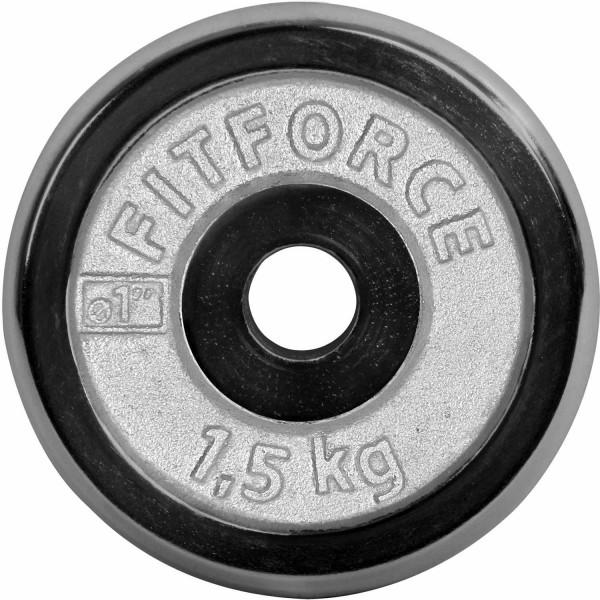 Fitforce NAKLADACÍ KOTÚČ 1,5KG CHROM - Nakladací kotúč