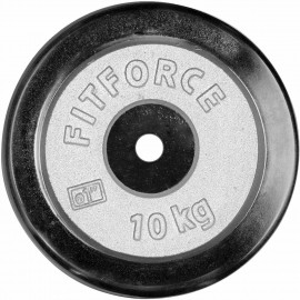 Fitforce WEIGHT DISC PLATE 10KG CHROME