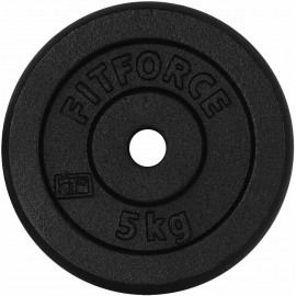 Fitforce WEIGHT DISC PLATE 5KG BLACK METAL - Weight Disc Plate