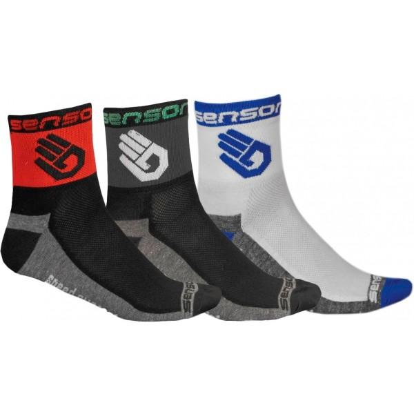 Sensor 3-PACK RUKA bílá 39 - 42 - Cyklistické ponožky