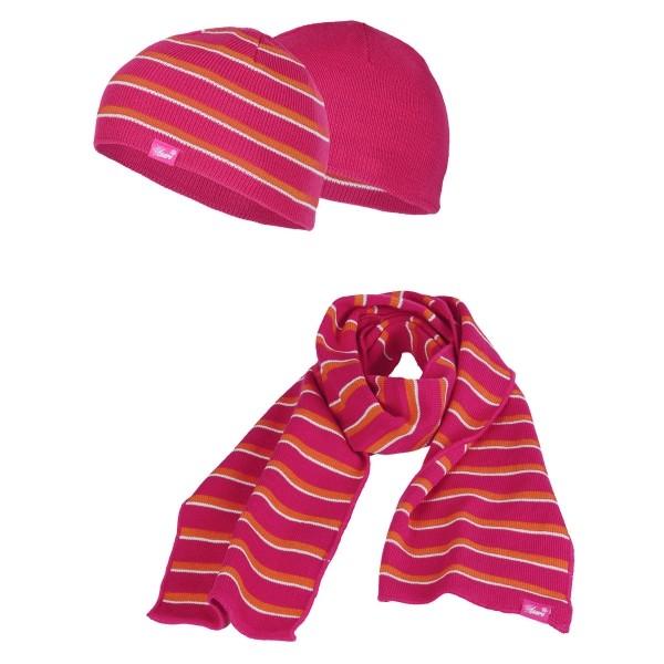 Lewro STRIPE růžová 7-9 - Dětský pletený set