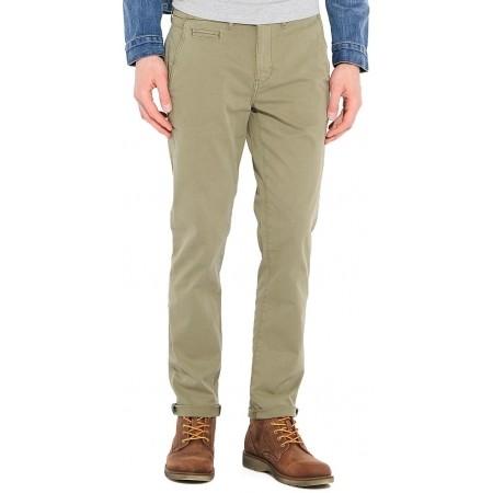 Pantaloni de bărbați - Wrangler CHINO DUSTY OLIVE - 1