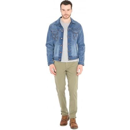 Pantaloni de bărbați - Wrangler CHINO DUSTY OLIVE - 3