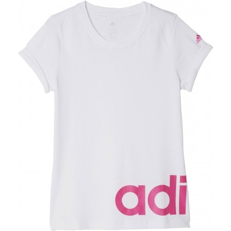 Dívčí tričko - adidas YG W LINEAR TEE - 1 6a8b99750bb