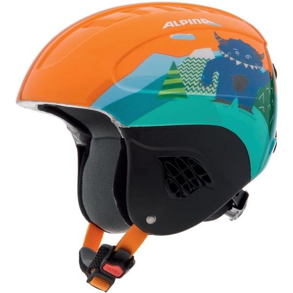 Alpina Sports CARAT oranžová (48 - 52) - Dětská lyžařská helma