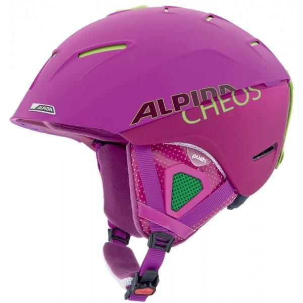 Alpina Sports CHEOS fioletowy (55 - 59) - Kask narciarski