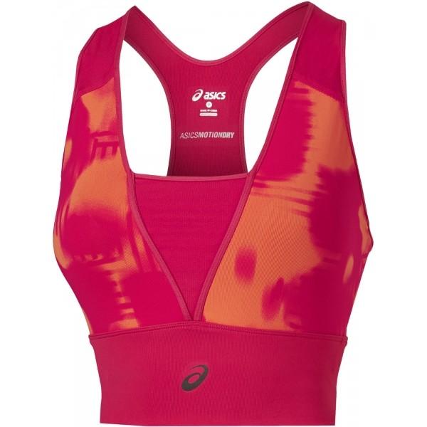 Asics FUZE X LAYERING PINK TOP W czerwony L - Podkoszulek do biegania damski