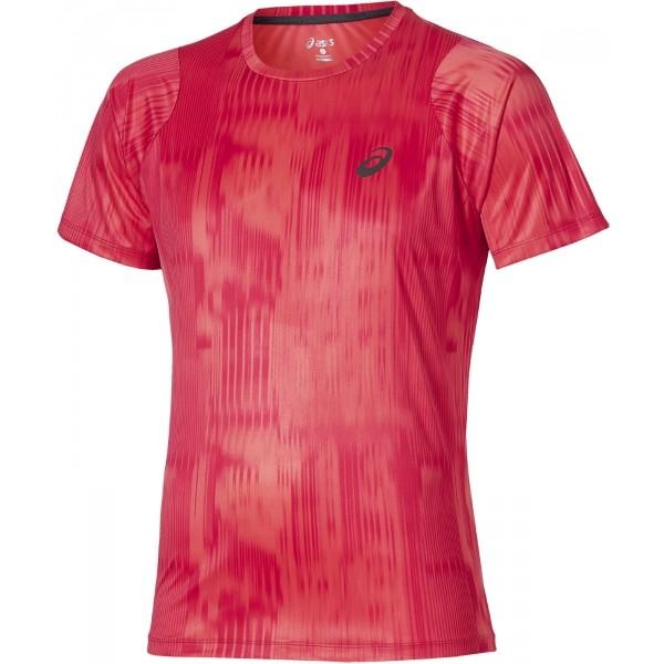 Asics FUZE X PRINTED TEE czerwony L - Koszulka męska do biegania
