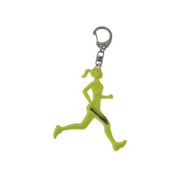 Kolimpex NO RUNNER WOMAN světle zelená  - Reflexní přívěšek