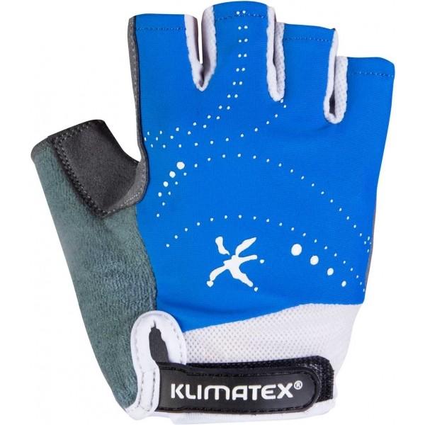 Klimatex ARI modrá 4 - Dětské cyklistické rukavice