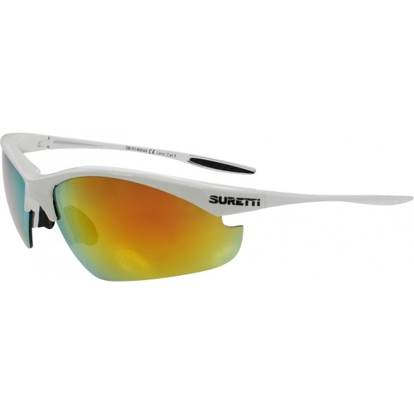 Suretti S14054 biela NS - Športové slnečné okuliare